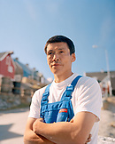 GREENLAND, Ilulissat, a portrait of a local fisherman