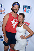 Clayton Kershaw, Ellen Kershaw<br /> at Clayton Kershaw's Ping Pong 4 Purpose Celebrity Tournament to Benefit Kershaw's Challenge, Dodger Stadium, Los Angeles, CA 08-11-16<br /> David Edwards/MediaPunch