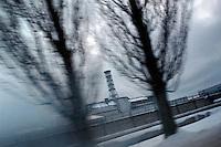 UKRAINE, Chernobyl, 2010/01/21<br /> The Chernobyl sarcophagus. Chernobyl, January 21, 2010. <br /> © Vaclav Vasku/EST&OST