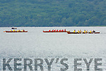Muckross RC A and B crews in a battle with Fossa during the senior mens at the Killarney regatta on Sunday