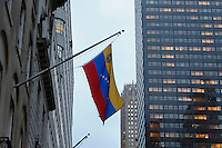 The Venezuelan flag it's seen at the Venezuelan consulate in the same day as two relatives of Venezuelan President Nicol‡s Maduro, Efra'n Antonio Campo and Francisco Flores were scheduled to go U.S. Federal Court  in New York.11.12.2015.  Kena Betancur/VIEWpress.