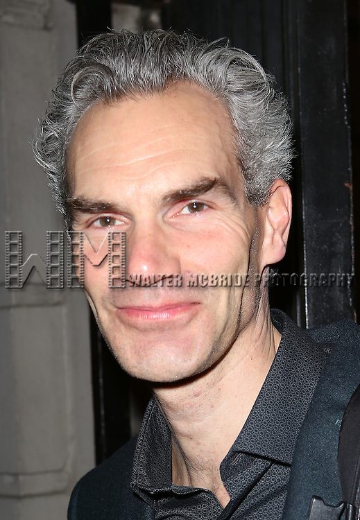 Angus Wright greets fans at the stage door after the Broadway Opening Night Performance of 'Twelfth Night' at the Belasco Theatre on November 10, 2013 in New York City.
