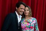 Sandrine Quetier and Vincent Cerutti attend a photocall during the 54th Monte-Carlo Television Festival at Grimaldi Forum on June 8, 2014 in Monte-Carlo, Monaco.