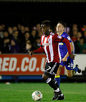 Brentford's Florian Jozefzoon in action during the Carabao Cup match between AFC Wimbledon and Brentford at the Cherry Red Records Stadium, Kingston, England on 8 August 2017. Photo by Carlton Myrie.