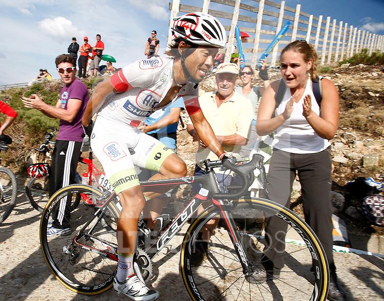Yukihiro Doi during the stage of La Vuelta 2012 beetwen La Faisanera Golf (Segovia)-La Bola del Mundo.September 8,2012. (ALTERPHOTOS/Paola Otero)