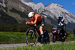 Annemiek van Vleuten (NED) in action during the Elite Women Individual Time Trial of the 2018 UCI Road World Championships running 27.8km from Wattens to Innsbruck, Innsbruck-Tirol, Austria 2018. 25th September 2018.<br /> Picture: Innsbruck-Tirol 2018/Dario Belingheri | Cyclefile<br /> <br /> <br /> All photos usage must carry mandatory copyright credit (&copy; Cyclefile | Innsbruck-Tirol 2018/Dario Belingheri)