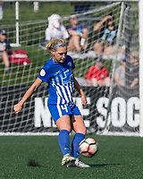 Boston, MA - Saturday August 19, 2017: Megan Oyster during a regular season National Women's Soccer League (NWSL) match between the Boston Breakers (blue) and the Orlando Pride (white/light blue) at Jordan Field. Orlando Pride defeated Boston Breakers, 2-1.