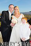 Niamh Byrnes, Tralee, daughter of Jimmy and Sheila Byrnes, and Trevor O'Sullivan, Tralee, son of Jimmy and May O'Sullivan, were married at the Immaculate Conception, Rathass, by Fr. Finucane on Saturday 21st March 2015 with a reception at Ballyroe Heights Hotel. Pictured here with son Darragh O'Sullivan