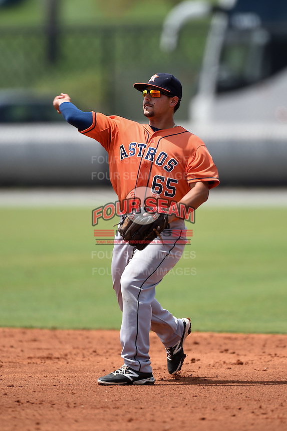 Houston Astros Alex Hernandez (65) during a minor league spring training game against the Detroit Tigers on March 25, 2015 at Tiger Town in Lakeland, Florida.  (Mike Janes/Four Seam Images)