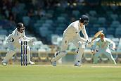 November 4th 2017, WACA Ground, Perth Australia; International cricket tour, Western Australia versus England, day 1; James Vince plays down the leg side during his innings