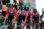 Tosh Van Der Sande (BEL) Lotto-Soudal in action during Stage 1 of La Vuelta 2019, a team time trial running 13.4km from Salinas de Torrevieja to Torrevieja, Spain. 24th August 2019.<br /> Picture: Colin Flockton | Cyclefile<br /> <br /> All photos usage must carry mandatory copyright credit (© Cyclefile | Colin Flockton)