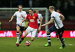 Angel Di Maria of Manchester United weaves in between - FA Cup Fifth Round - Preston North End  vs Manchester Utd  - Deepdale Stadium - Preston - England - 16th February 2015 - Picture Simon Bellis/Sportimage