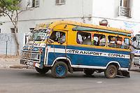 Senegal, Saint Louis.  Local Bus Transport.
