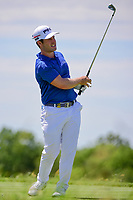 David Lingmerth (SWE) watches his tee shot on 13 during Friday's round 2 of the 117th U.S. Open, at Erin Hills, Erin, Wisconsin. 6/16/2017.<br /> Picture: Golffile | Ken Murray<br /> <br /> <br /> All photo usage must carry mandatory copyright credit (&copy; Golffile | Ken Murray)