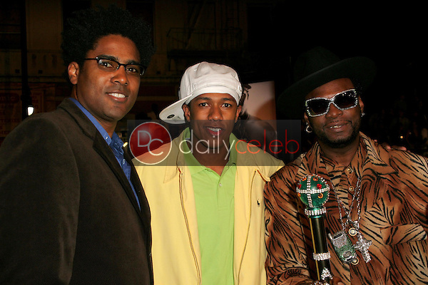 Mark Brown with Nick Cannon and Bishop Don Magic Juan<br />