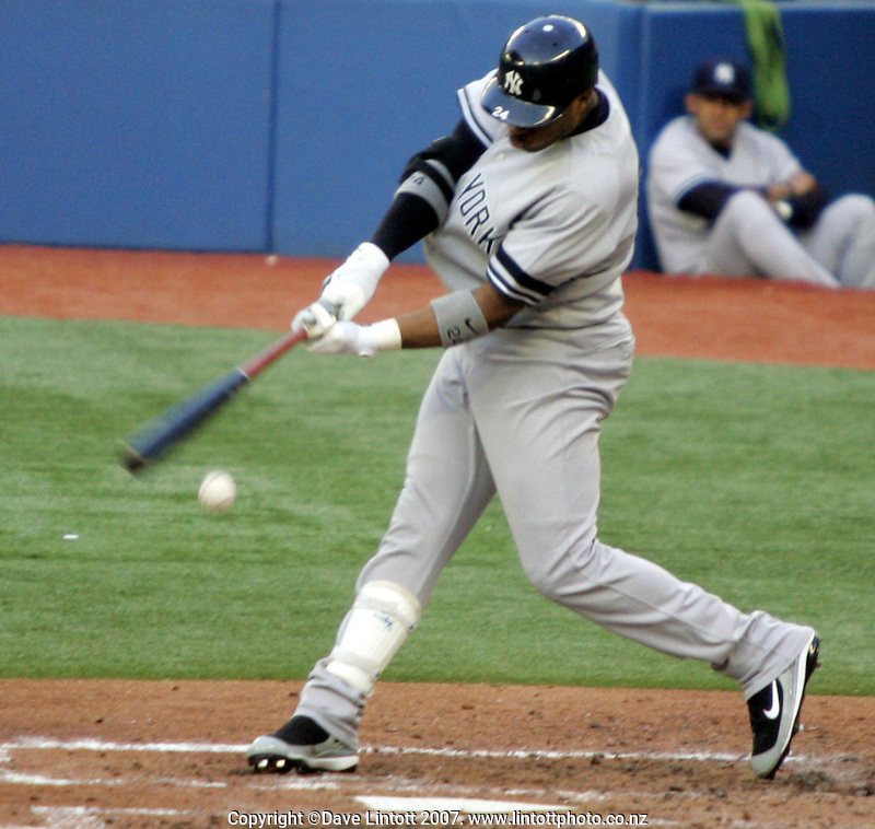 Action from the Toronto Blue Jays Major League Baseball match against the New York Yankees at The Rogers Centre, Toronto, Canada on 29 May 2007. Photo: Dave Lintott / lintottphoto.co.nz