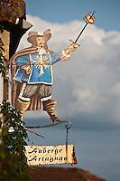 Europe/France/Midi-Pyrénées/32/Gers/Lupiac: Le village de d'Artagnan - Enseigne de l'auberge d' Artagnan
