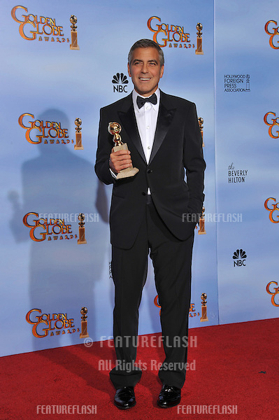 George Clooney at the 69th Golden Globe Awards at the Beverly Hilton Hotel..January 15, 2012  Beverly Hills, CA.Picture: Paul Smith / Featureflash