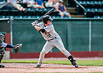 3 September 2018: Tri-City ValleyCats catcher Alex Holderbach pinch hits against the Vermont Lake Monsters at Centennial Field in Burlington, Vermont. The Lake Monsters defeated the ValleyCats 9-6 in the last game of the 2018 NY Penn League regular season. Mandatory Credit: Ed Wolfstein Photo *** RAW (NEF) Image File Available ***