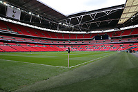 Wembley Stadium is all set for Tottenham Hotspurs last league game of the Stadium before Tottenham Hotspur vs Leicester City, Premier League Football at Wembley Stadium on 13th May 2018