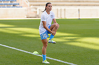 Bridgeview, IL, USA - Sunday, May 29, 2016:  Chicago Red Stars midfielder Vanessa DiBernardo (10) before a regular season National Women's Soccer League match between the Chicago Red Stars and Sky Blue FC at Toyota Park. The game ended in a 1-1 tie.