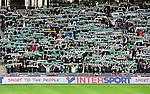 Stockholm 2015-10-25 Fotboll Allsvenskan Hammarby IF - Malm&ouml; FF :  <br /> Hammarbys supportrar med halsdukar under matchen mellan Hammarby IF och Malm&ouml; FF <br /> (Foto: Kenta J&ouml;nsson) Nyckelord:  Fotboll Allsvenskan Tele2 Arena Hammarby HIF Bajen Malm&ouml; FF MFF supporter fans publik supporters Intersport