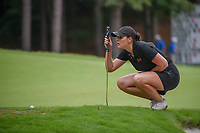 Olivia Mahaffey (a)(NIR) lines up her putt on 13 during round 2 of the U.S. Women's Open Championship, Shoal Creek Country Club, at Birmingham, Alabama, USA. 6/1/2018.<br /> Picture: Golffile | Ken Murray<br /> <br /> All photo usage must carry mandatory copyright credit (&copy; Golffile | Ken Murray)