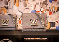 A genuine Louis Vuitton handbag in the Vuitton store on Fifth Avenue in New York on Friday, March 6, 2015. (© Richard B. Levine)