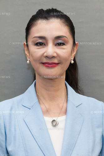 Actress Mitsuko Ishii poses for a photograph after finished a press conference at the House of Representatives building  number 1 on June 9, 2016, Tokyo, Japan. The Osaka Restoration Association, also known as One Osaka announced the official candidacy of actress Mitsuko Ishii for July's House of Councillors elections. (Photo by Rodrigo Reyes Marin/AFLO)