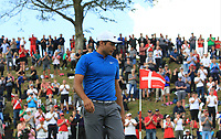 Julian Suri (USA) on the 16th green during Round 4 of Made in Denmark at Himmerland Golf &amp; Spa Resort, Farso, Denmark. 27/08/2017<br /> Picture: Golffile | Thos Caffrey<br /> <br /> All photo usage must carry mandatory copyright credit     (&copy; Golffile | Thos Caffrey)