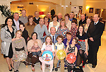 Jackie Foley, Countess Grove, Killarney, who celebrated his 70th birthday with family and friends in The Riverside Hotel, Killarney on Saturday night. Included is Jackie's wife .Mary Foley, son Shane and daughters Norma and Karen Foley.  Picture: Eamonn Keogh (MacMonagle, Killarney)