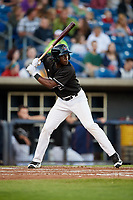 Quad Cities River Bandits center fielder Daz Cameron (16) at bat during a game against the Lake County Captains on May 6, 2017 at Modern Woodmen Park in Davenport, Iowa.  Lake County defeated Quad Cities 13-3.  (Mike Janes/Four Seam Images)
