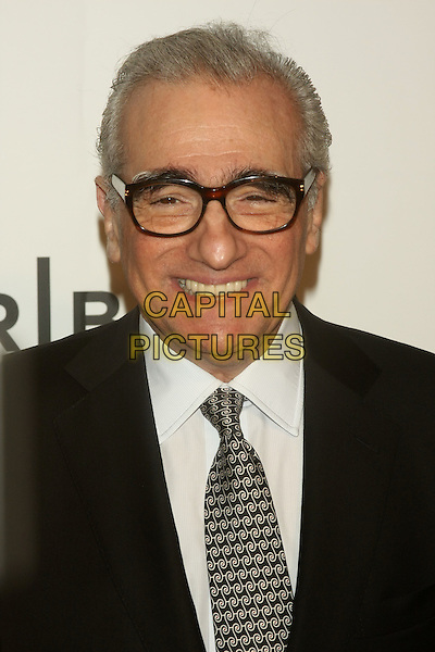 "MARTIN SCORSESE .attends the 10th Anniversary Edition of the Tribeca Film Festival - Opening Night Gala Premiere of ""The Union"" at the Winter Garden of the World Financial Center, New York, NY, USA, .20th April 2011..portrait headshot smiling  black suit grey gray tie glasses white shirt .CAP/LNC/TOM.©LNC/Capital Pictures."