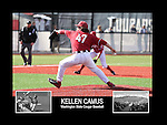 Photo collage of Kellen Camus during his college baseball career at Washington State University.