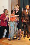 (L-R) Marian Wright Edelman, Sunitha Krishnan, Tina Brown, and Harry Belafonte at the John Jay Justice Award ceremony, April 5 2011.