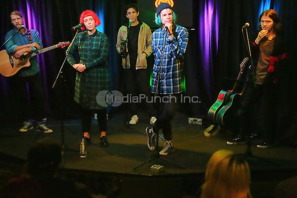 BALA CYNWYD, PA- NOVEMBER 8 :  Grouplove visit Radio 104.5 performance studio in Bala Cynwyd, Pa on November 8, 2016  photo credit Star Shooter/MediaPunch