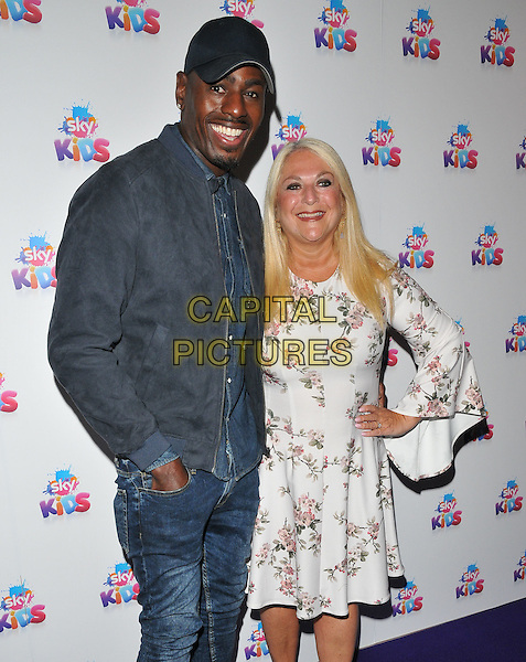 Ben Ofoedu &amp; Vanessa Feltz at the Sky Kids Cafe VIP launch party, The Vinyl Factory, Marshall Street, London, England, UK, on Sunday 29 May 2016.<br /> CAP/CAN<br /> &copy;CAN/Capital Pictures