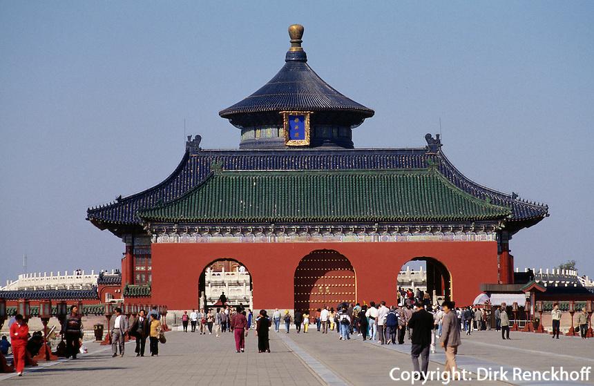 Ehrenweg (Danbiqiao) im  Himmelstempel (Tian Tan, Himmelsaltar), Peking, China, Unesco-Weltkulturerbe