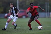 Connor Okus of May & Baker during May & Baker vs Swaffham Town, Buildbase FA Vase Football at Gale Street on 4th November 2018