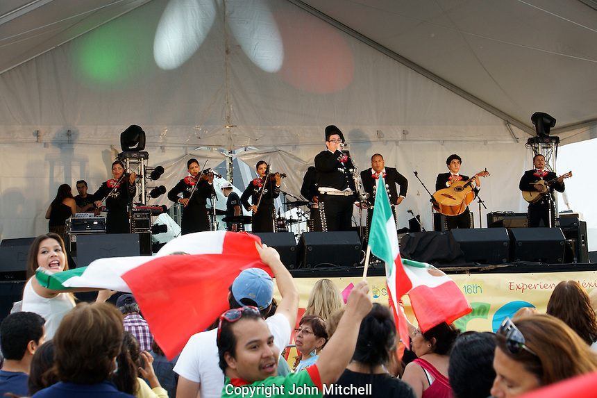 Mariachis performing at the Mexico Fest 2012 celebrations on Sept. 8, 2012 in Vancouver, British Columbia, Canada. These celebrations commemorated 202 years of Mexican Independence.