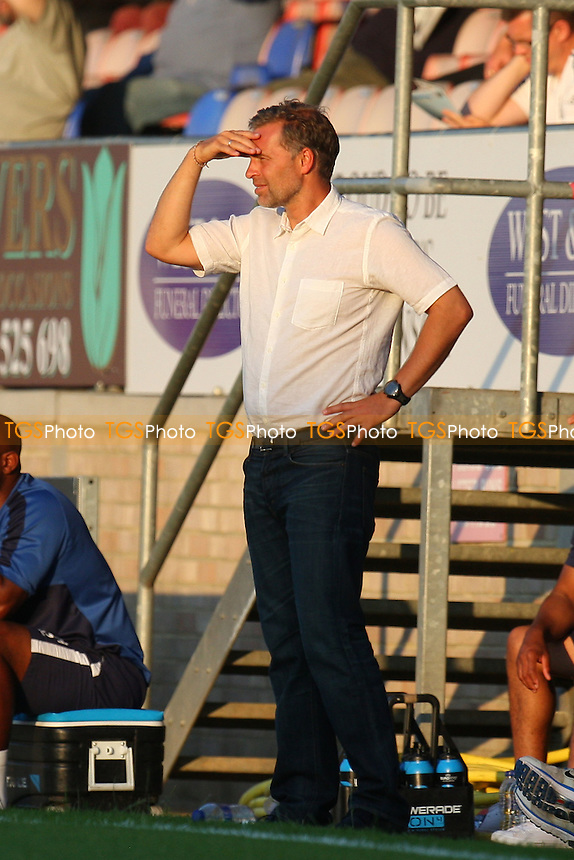 Dagenham manager Wayne Burnett - Dagenham and Redbridge vs MK Dons, pre season friendly - 22/07/14 - MANDATORY CREDIT: Dave Simpson/TGSPHOTO - Self billing applies where appropriate - 0845 094 6026 - contact@tgsphoto.co.uk - NO UNPAID USE