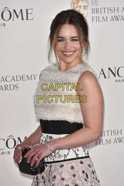 Emilia Clarke attends the Lancome BAFTA nominees party at Kensington Palace on February 13, 2016 in London, England.<br /> CAP/PL<br /> &copy;Phil Loftus/Capital Pictures