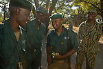 Anti-poaching scouts before deployment, Kafue National Park, Zambia