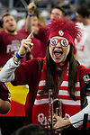 02 APR 2016: University of Oklahoma band members fire up the crowd against Villanova University during the 2016 NCAA Men's Division I Basketball Final Four Semifinal game held at NRG Stadium in Houston, TX. Villanova defeated Oklahoma 95-51 to advance to the championship game. Brett Wilhelm/NCAA Photos