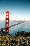 USA, California, San Francisco, the Golden Gate Bridge, view from the North end, the Marin Headlands