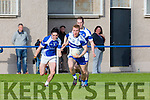 In Action Desmonds Patrick Hickery gets away from Rahilly's Cormac Coffey in the  Senior County League Kerins O'Rahilly V Castleisland Desmonds at Strand Road Ground on Saturday