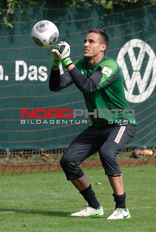 14.08.2013, Trainingsgelaende, Bremen, GER, 1.FBL, Training Werder Bremen, im Bild Raphael Wolf (Bremen #20)<br /> <br /> Foto &copy; nph / Frisch