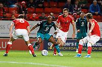 Andre Ayew of Swansea City City (2nd L) in action during the Sky Bet Championship match between Charlton Athletic and Swansea City at The Valley, London, England, UK. Wednesday 02 October 2019
