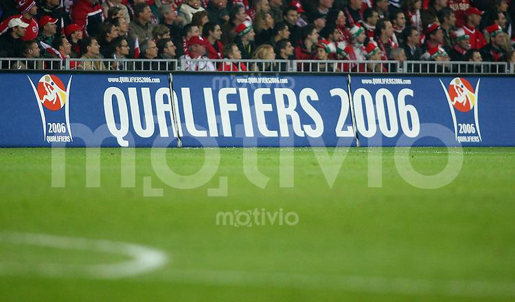 Fussball International WM Qualifikation Schweiz 2-0 Tuerkei Werbebande, Qualifikations Spiel