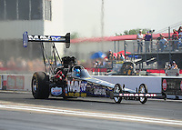 Apr. 27, 2012; Baytown, TX, USA: NHRA top fuel dragster driver Brandon Bernstein during qualifying for the Spring Nationals at Royal Purple Raceway. Mandatory Credit: Mark J. Rebilas-